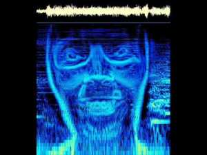Spectrogram of a hidden image encoded as sound...